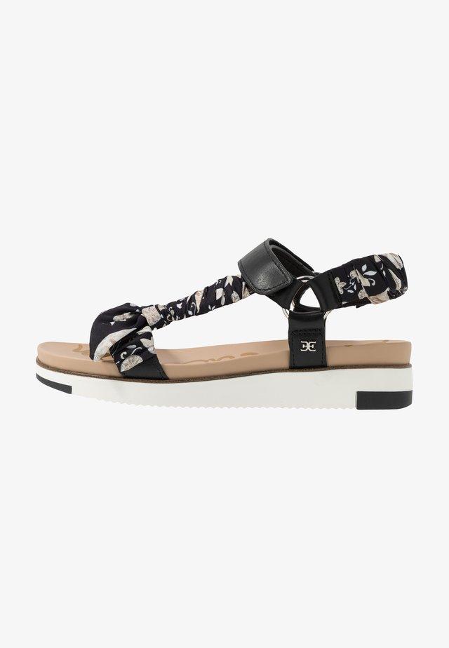 ASHIE - Korkeakorkoiset sandaalit - black/multicolor