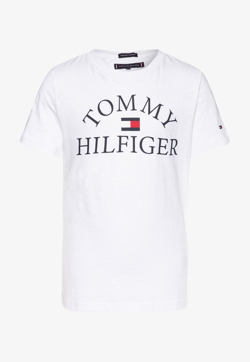 Tommy Hilfiger - ESSENTIAL LOGO - Camiseta estampada - white