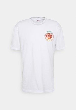 CIRCULAR GRAPHIC TEE - T-Shirt print - white