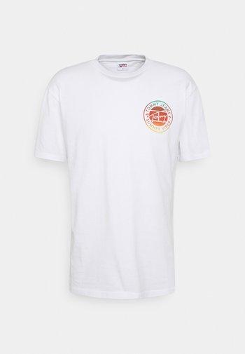 CIRCULAR GRAPHIC TEE - T-shirt med print - white