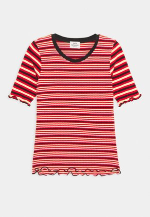 STRIPE MIX TUVIANA - Print T-shirt - red/multicolor