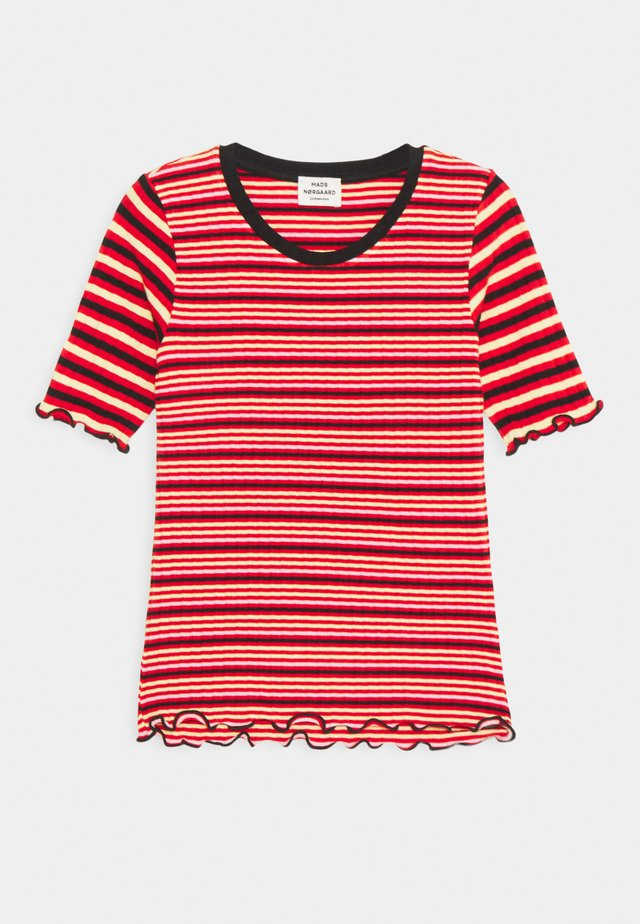 STRIPE MIX TUVIANA - T-shirt con stampa - red/multicolor