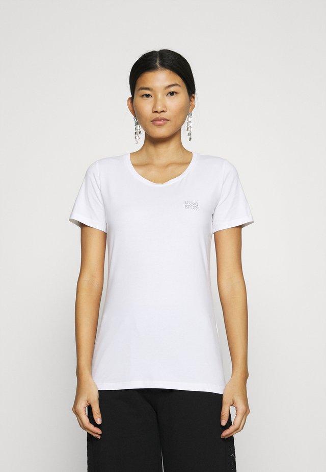 BASICA - Camiseta estampada - bianco
