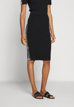 TAPE TUBE SKIRT - Pencil skirt - black