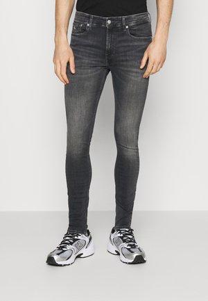 SUPER SKINNY - Jeans Skinny Fit - denim grey