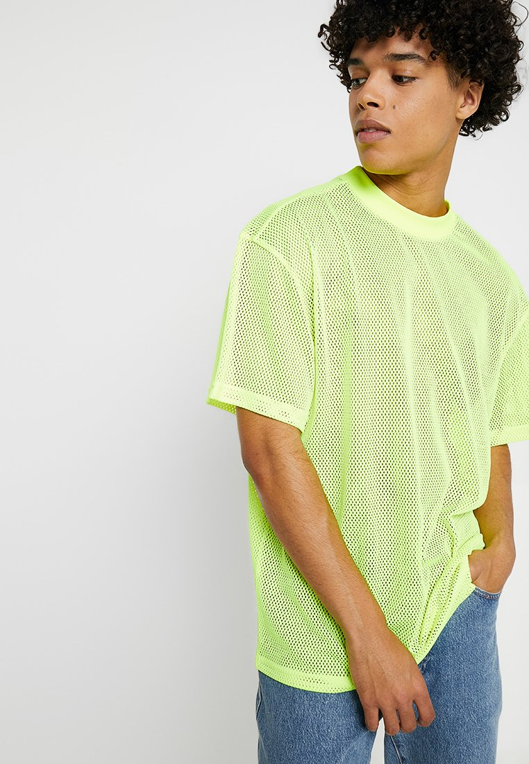Weekday - GREAT CAPSULE - Jednoduché triko - neon yellow