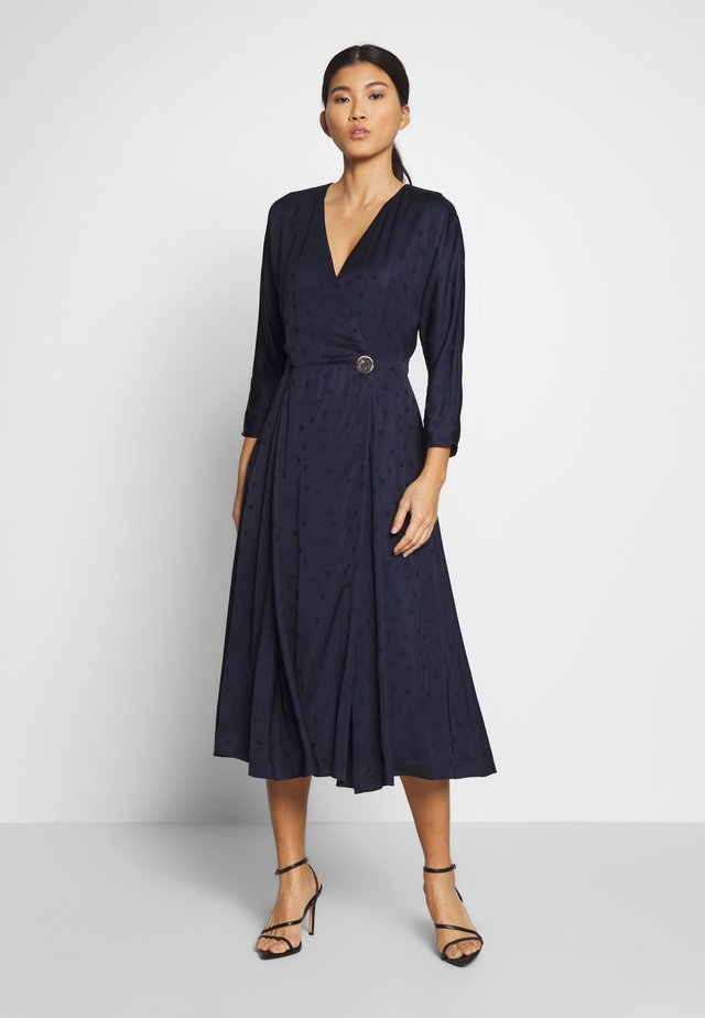 POLKA DOT DRESS - Robe d'été - navy
