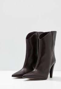 Topshop - VEGAN VILLA BOOT - High heeled ankle boots - burgundy - 4