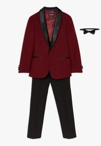 OppoSuits - HOT TUXEDO TEENS SET - Oblek - burgundy - 0