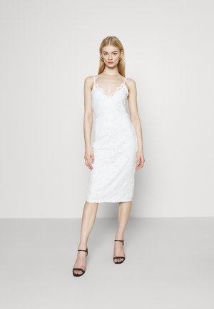 VISTASIA STRAP DRESS - Cocktailklänning - cloud dancer