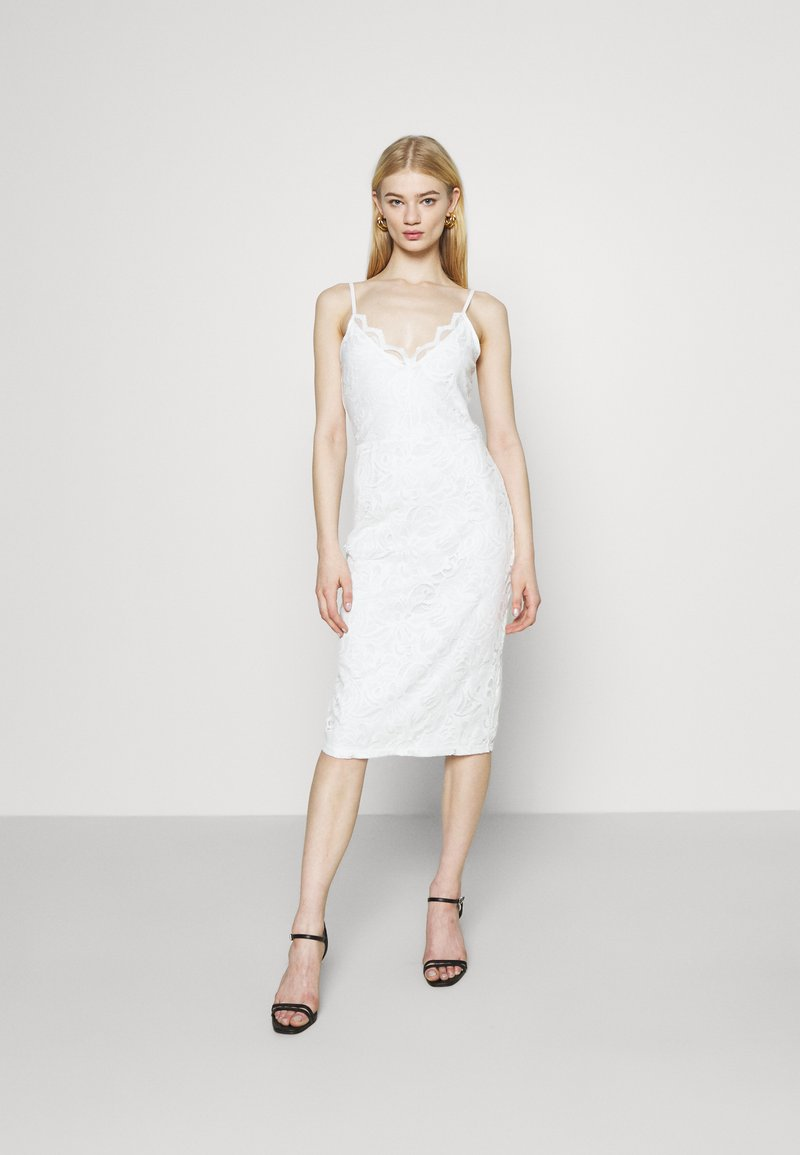 Vila - VISTASIA STRAP DRESS - Cocktail dress / Party dress - cloud dancer