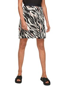 s.Oliver - A-line skirt - black zebra aop - 5