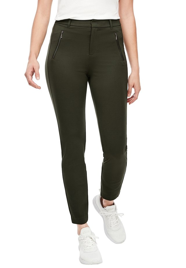 REGULAR FIT - Trousers - khaki