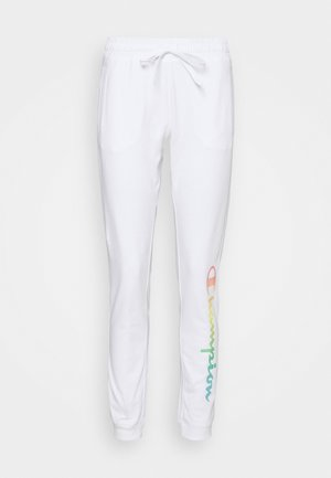 RIB CUFF PANTS - Jogginghose - white
