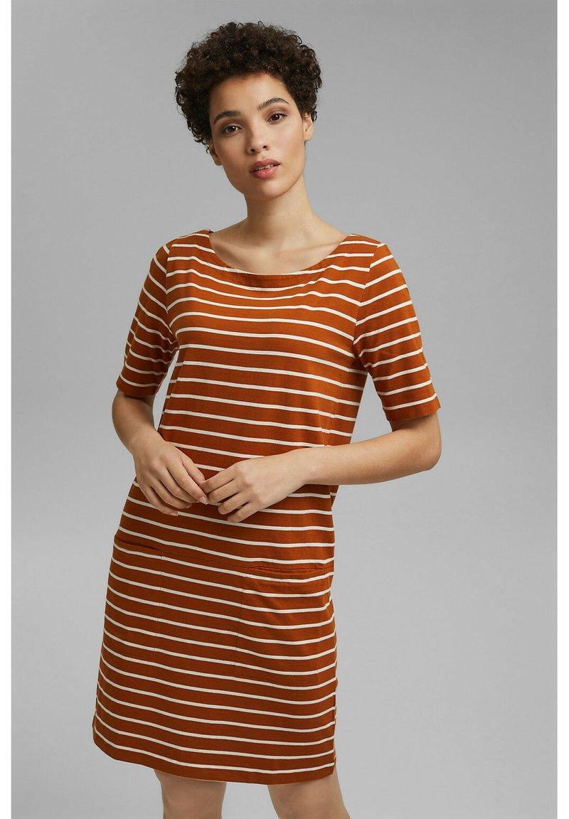 Esprit - FASHION  - Jersey dress - caramel