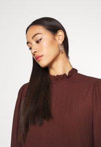 ONLY - ONLZILLE HIGHNECK DRESS - Shirt dress - bitter chocolate - 3