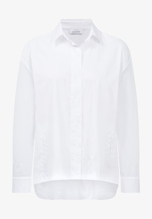 OVERSIZED 1/1 ARM - Button-down blouse - weiss uni