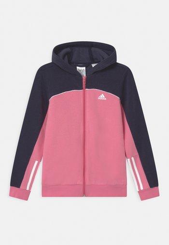 Zip-up sweatshirt - rose tone/vivid red/white