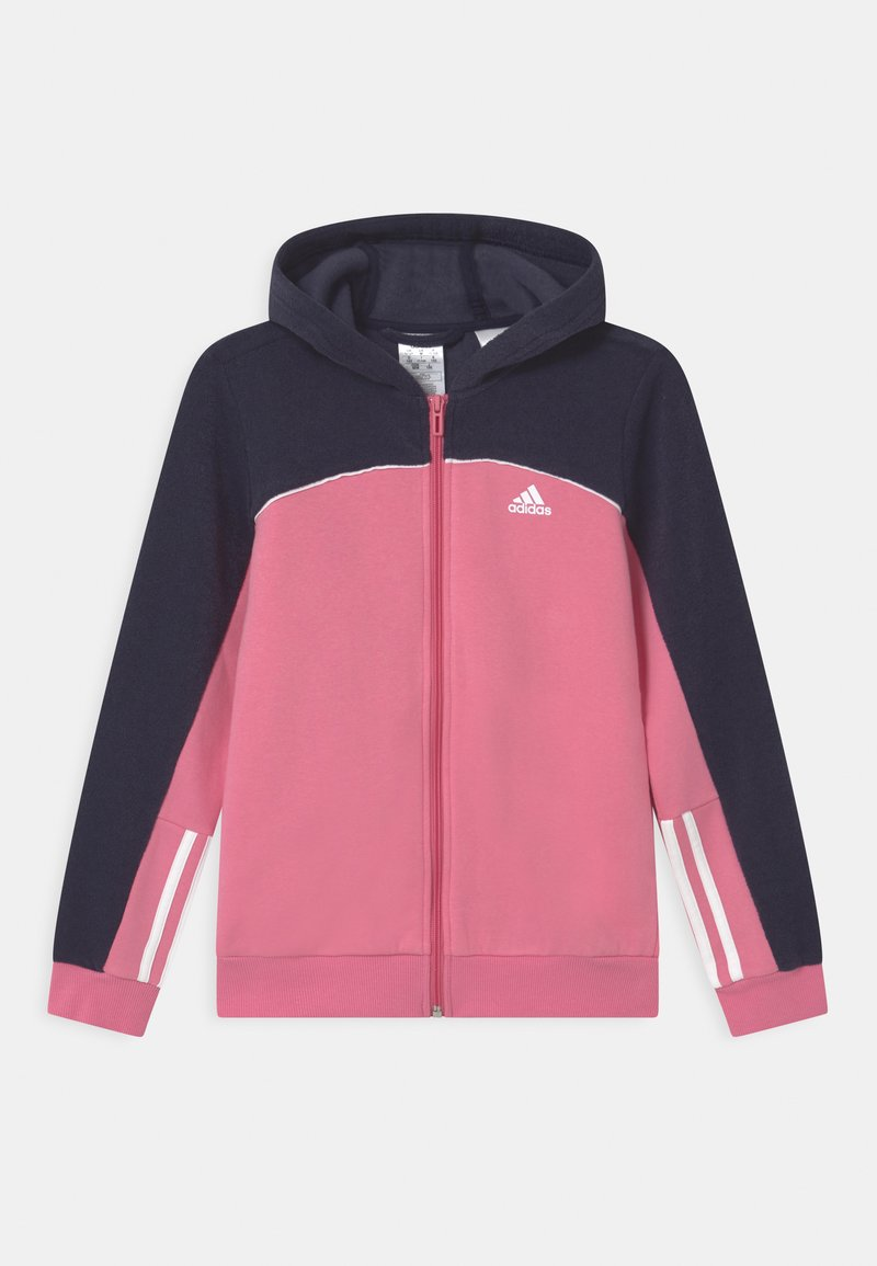adidas Performance - Zip-up sweatshirt - rose tone/vivid red/white