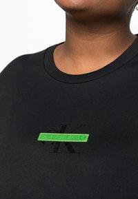 Calvin Klein Jeans Plus - CENSORED TEE - Print T-shirt - black - 4
