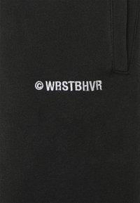 WRSTBHVR - WARREN PANTS VINTAGE UNISEX - Tracksuit bottoms - black - 2