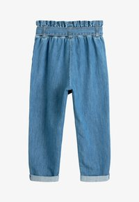 Next - CHARCOAL PAPERBAG TIE WAIST JEANS (3-16YRS) - Relaxed fit jeans - blue - 1