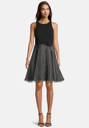 Cocktail dress / Party dress - black rosé