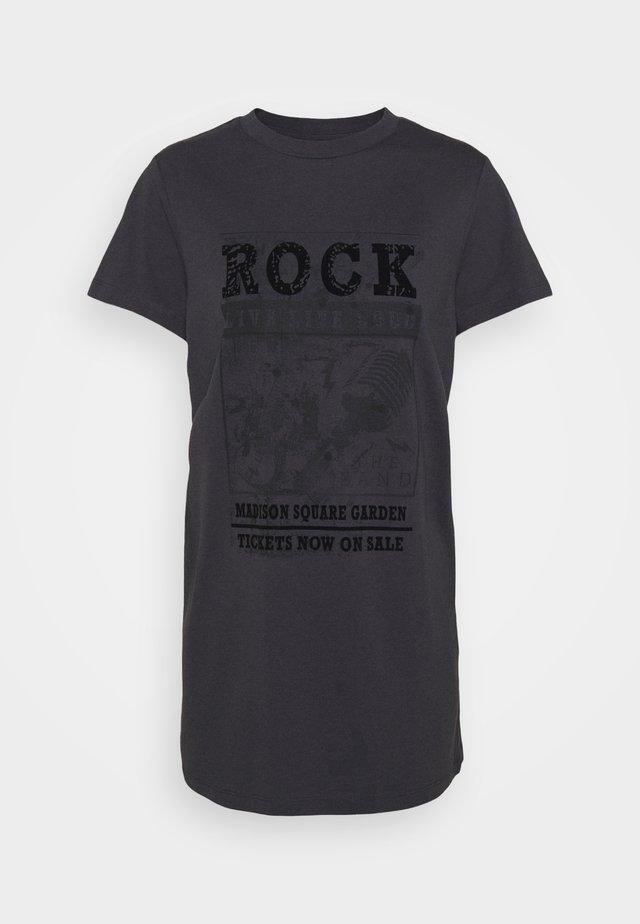 NMZODIAC CHILLER - T-shirt imprimé - obsidian
