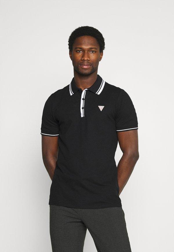 Guess SCOTT - Koszulka polo - jet black/czarny Odzież Męska KGLF