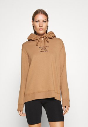 GEL LOGO SNAP POPOVER - Kapuzenpullover - brown