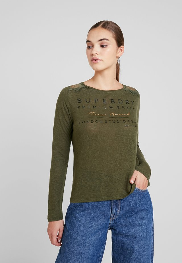 GRAPHIC - Long sleeved top - chive