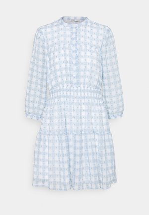 ONLPLUM 3/4 DRESS  - Shirt dress - blue fog/cloud dancer