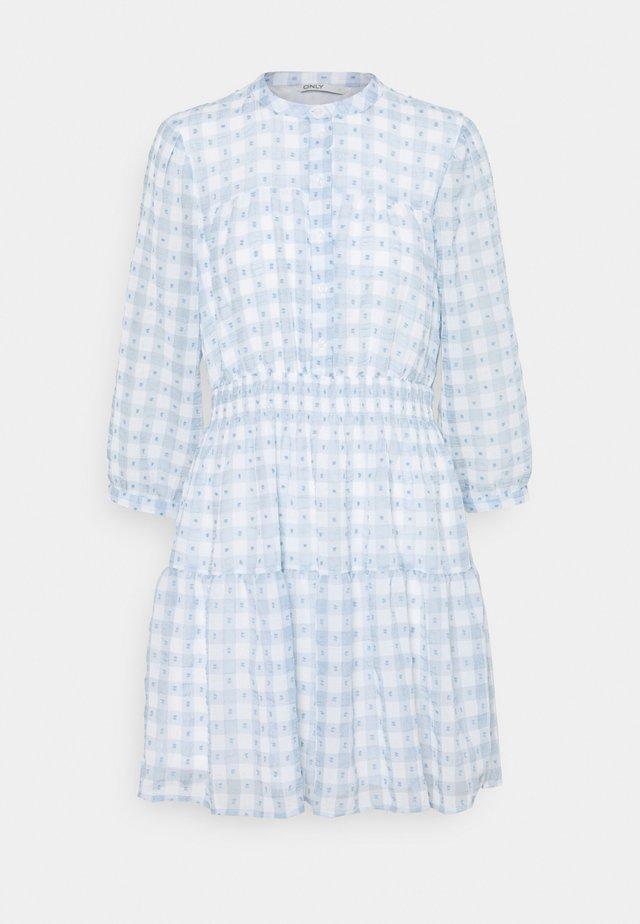 ONLPLUM 3/4 DRESS  - Shirt dress - blue fog/cloud dancer