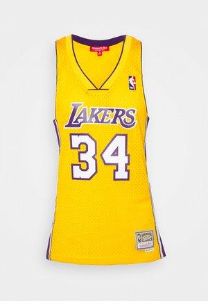 NBA LOS ANGELES LAKERS WOMENS SWINGMAN SHAQUILLE ONEAL  - Fanartikel - yellow