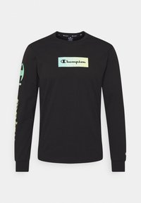 Champion - CREWNECK LONG SLEEVE  - Long sleeved top - black - 5