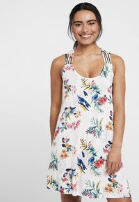 s.Oliver - HOLLY_BEACHDRESS - Jersey dress - white print - 0
