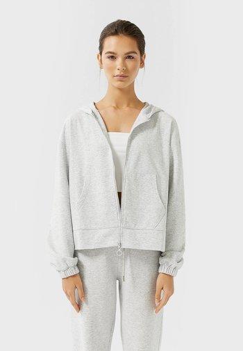 MIT REISSVERSCHLUSS  - Zip-up hoodie - grey