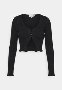 Milk it - HOOK AND EYE FRONT FAS - Cardigan - black - 5