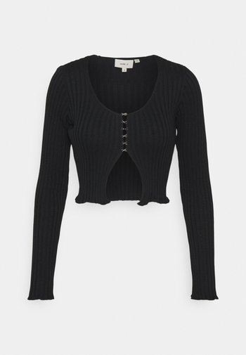HOOK AND EYE FRONT FAS - Cardigan - black