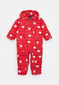 Mini Rodini - HEARTS BABY OVERALL - Combinaison de ski - red - 0