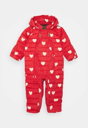 HEARTS BABY OVERALL - Snowsuit - red