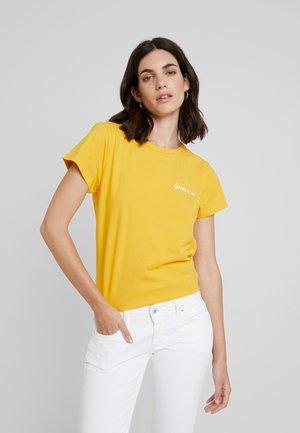 WHAT A WONDERFUL WORLD - Print T-shirt - golden rod
