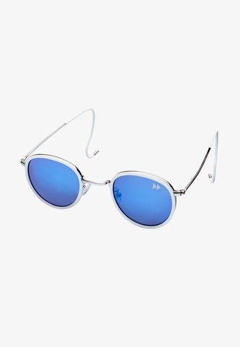 Sunglasses - silver with white