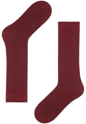MIT FRESH FEET  - Knee high socks - dark red