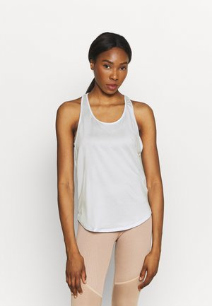 TECH VENT TANK - Sports shirt - white/black