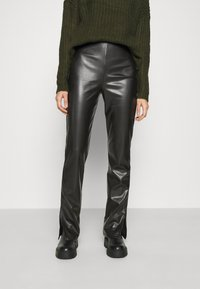 Nly by Nelly - SIDE CUT PANTS - Trousers - black - 0