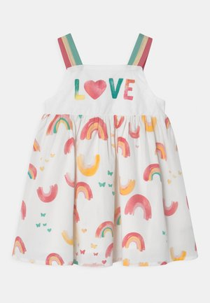 RAINBOW - Korte jurk - bright white