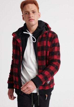 CORE SHERPA - Fleece jacket - red
