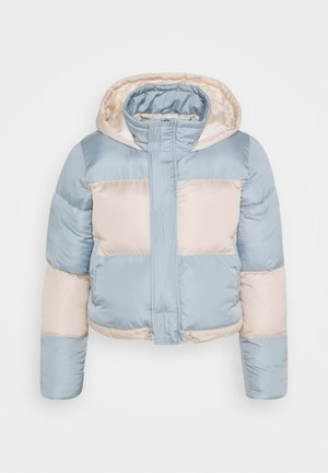 COLOURBLOCK PUFFER - Winter jacket - blue