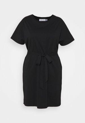 CAP SLEEVE MINI DRESS - Jerseykjole - black